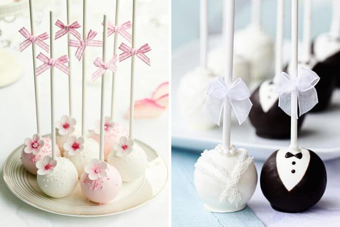 Cakepops für den Sweet Table zur Hochzeit