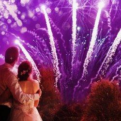 Feuerwerk für Hochzeiten