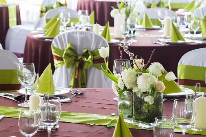 Hochzeitstischdeko Grün