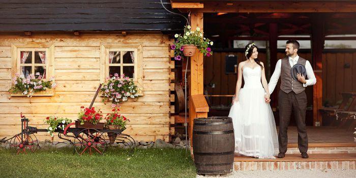 Hochzeit auf dem Bauernhof