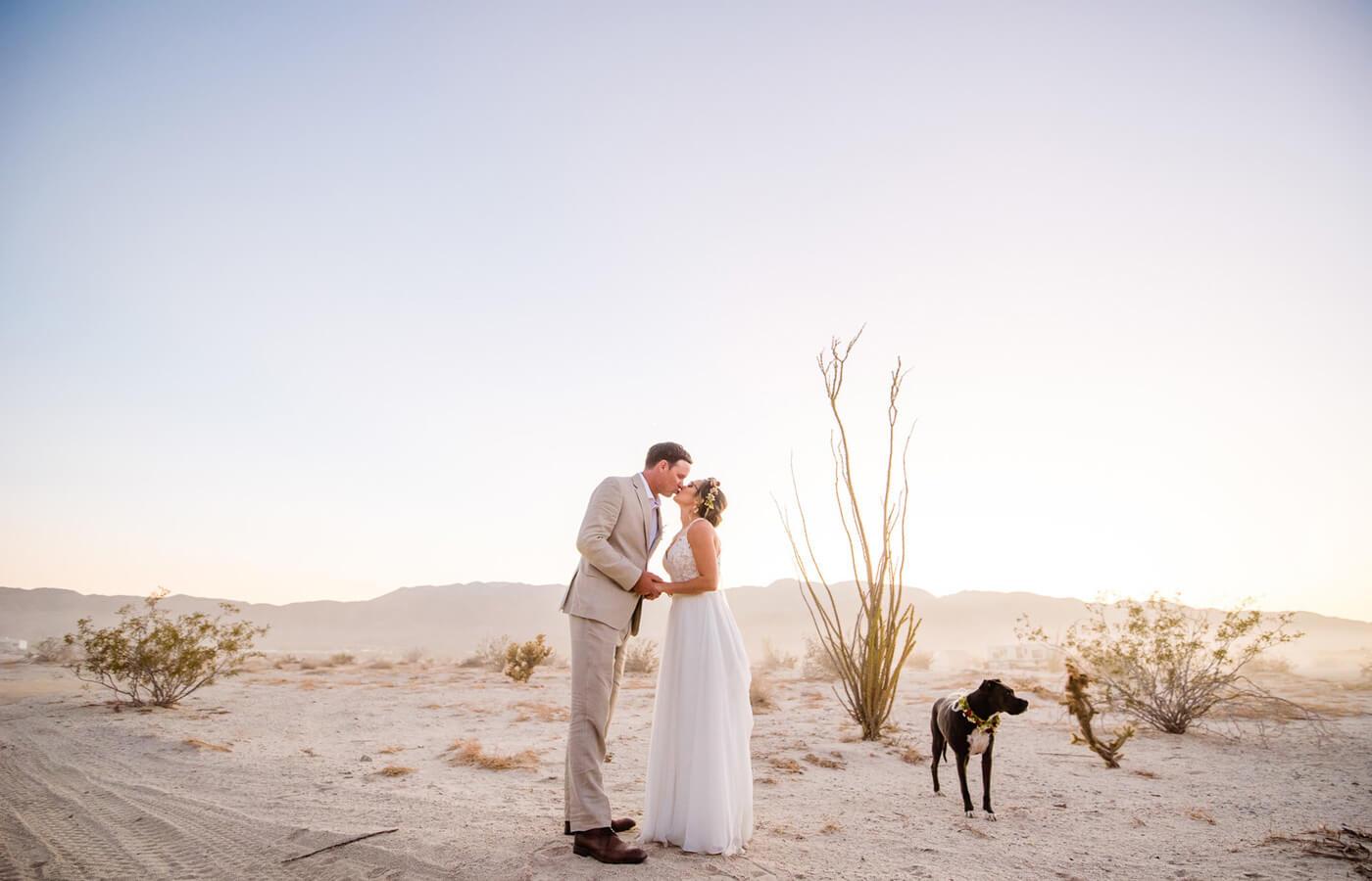 Hochzeitsbild mit Hund