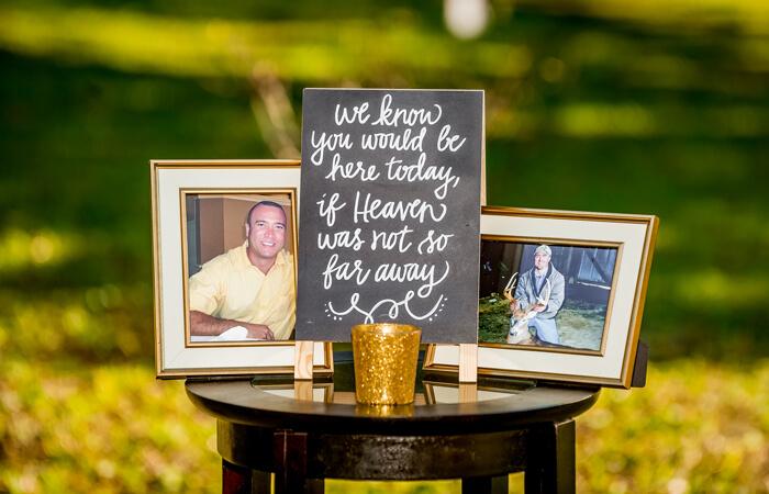 Hochzeit Verstorbenen gedenken
