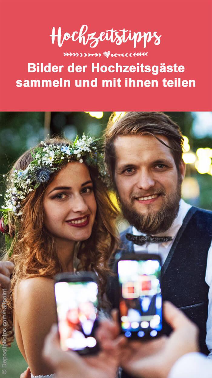 Hochzeitsfotos online stellen mit Passwort
