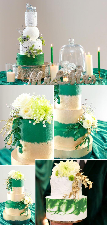 Grüne Hochzeitstorten