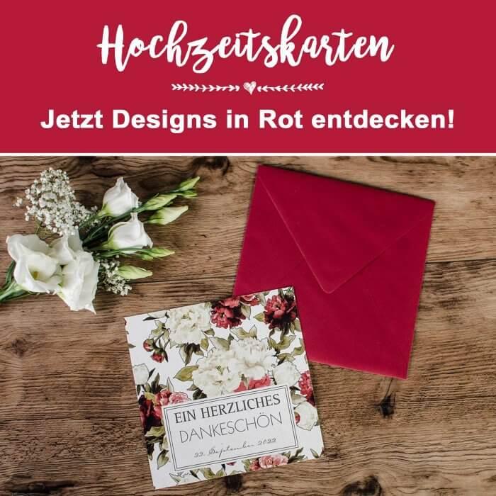 Hochzeitskarten in Rot