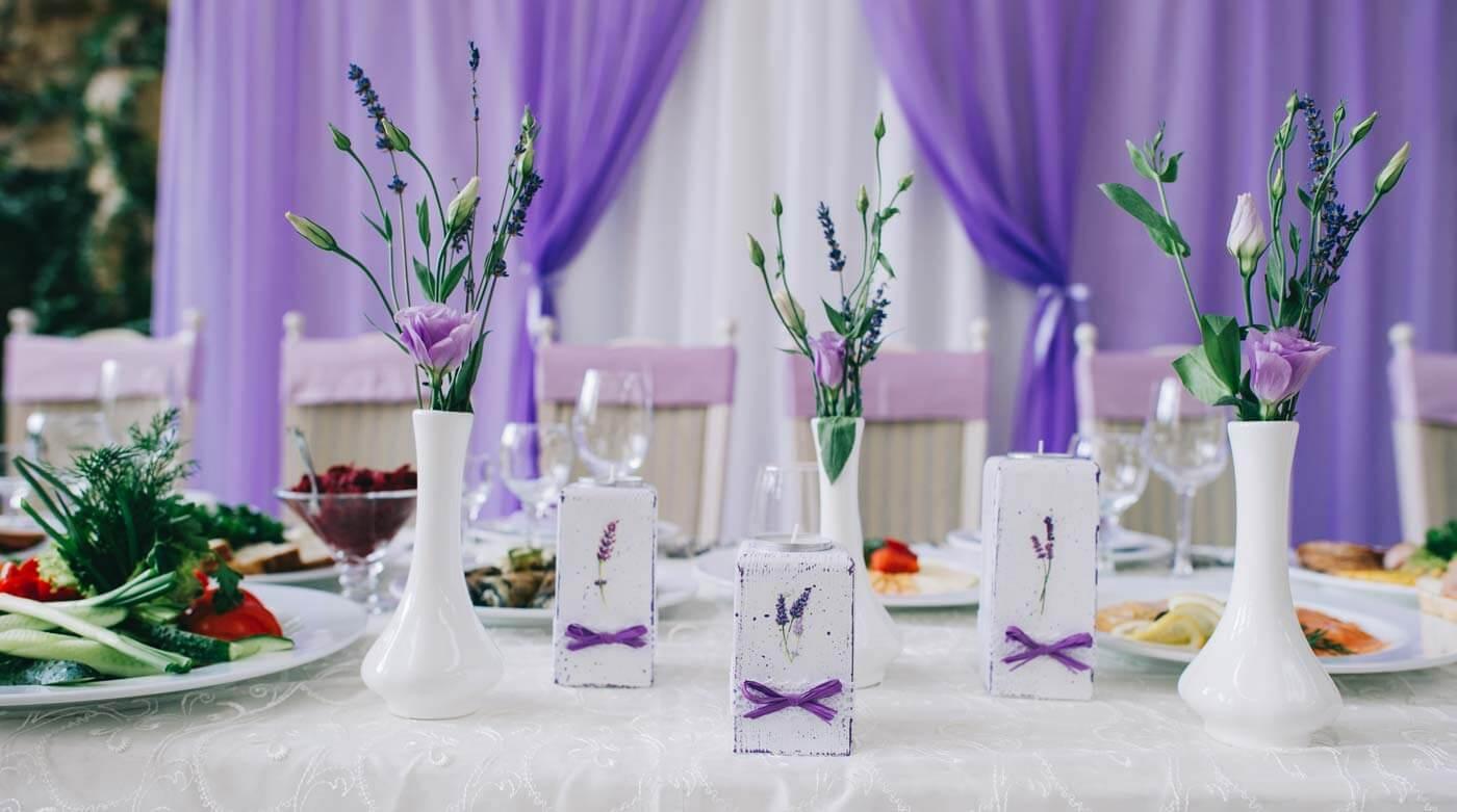Lavendel Hochzeitsdeko