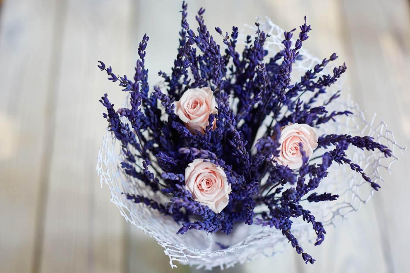 Tischdeko Hochzeit Lavendel