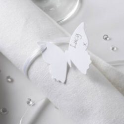 Namenskarte Schmetterling-Serviette