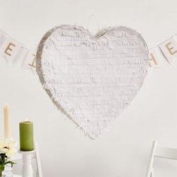Herz Pinata Weiß
