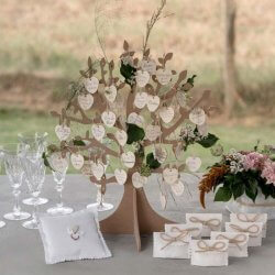 Gästebaum Hochzeit Holz