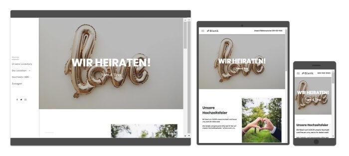 Hochzeit Webseite Beispiele