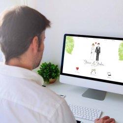Hochzeitswebseite Beispiel