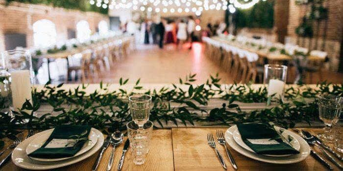 Saal für Hochzeit