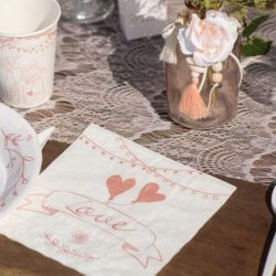 Servietten Vintage Hochzeit