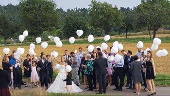Luftballons Hochzeitsgäste