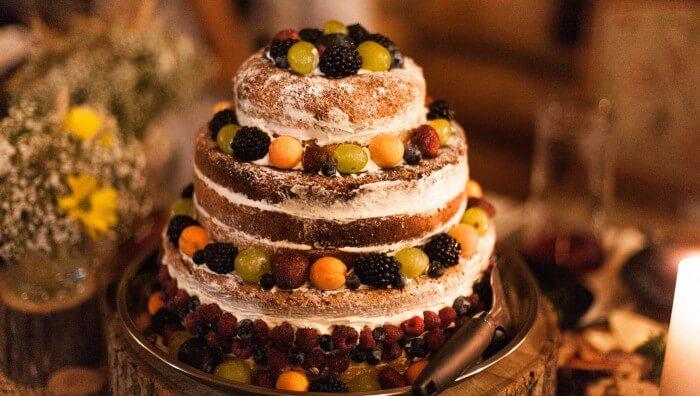Winterhochzeit Naked Cake