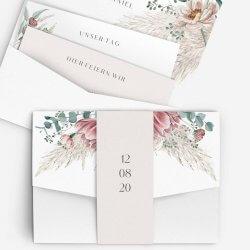 Einladungskarte Pampasgras