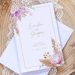 Hochzeitseinladung Pampasgras