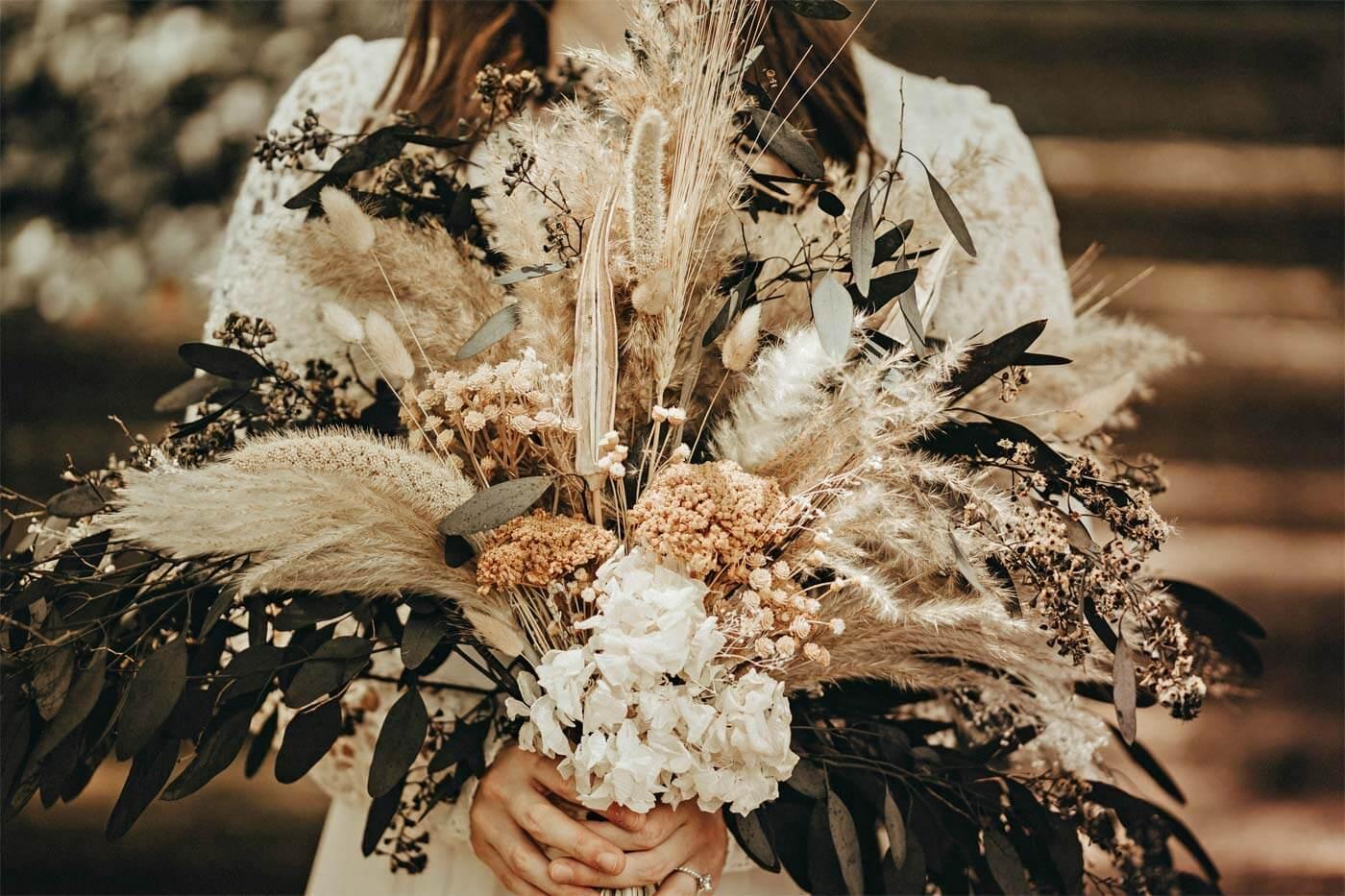 Hochzeitsstrauß Trockenblumen