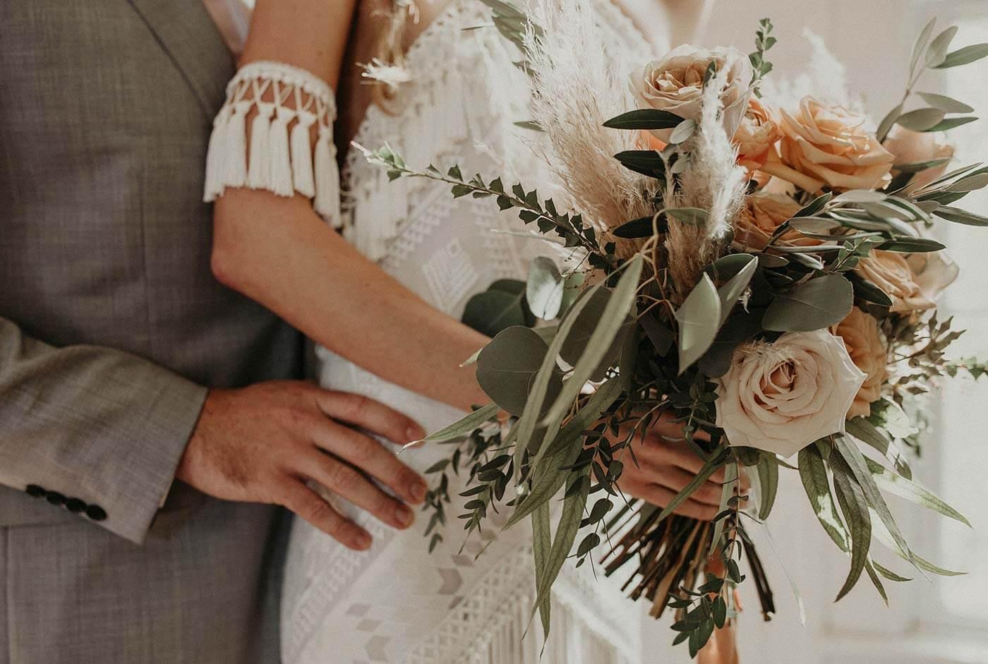 Hochzeitstrauß Pampasgras