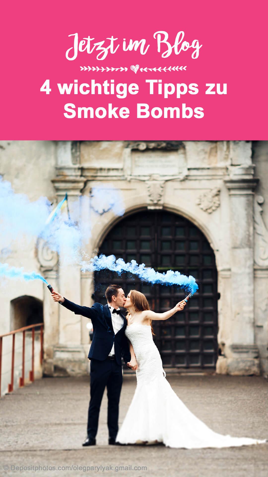 Hochzeitsbilder bunter Rauch