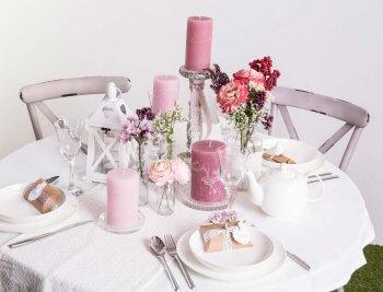 Tischdeko Hochzeit Mustertische rund