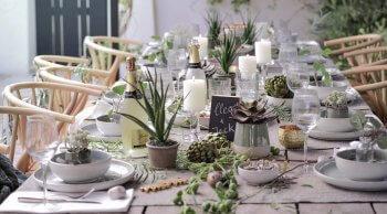 Tischdeko für Hochzeit Beispiele