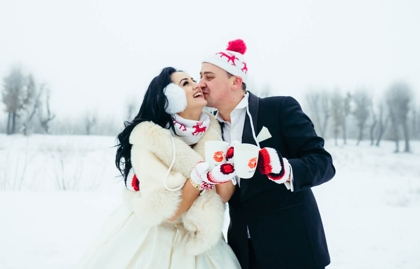 Winter-Hochzeit zu Zweit