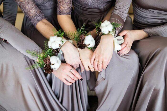 Winterhochzeit Brautjungfern