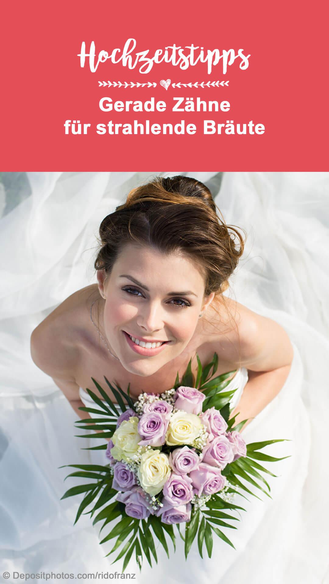 Gerade Zähne Braut
