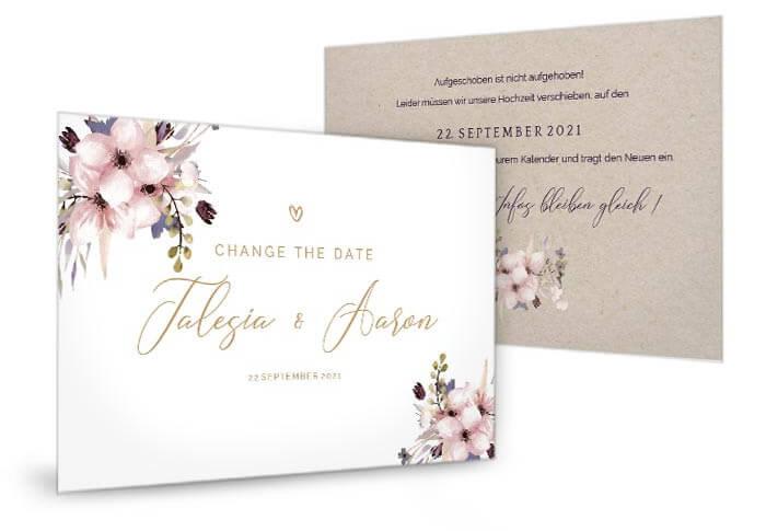 Change the Date Hochzeit