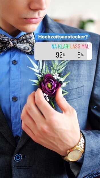 Anstecker Anzug Hochzeit