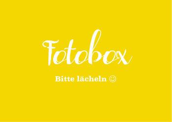 Schild Fotobox