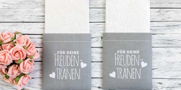 Taschentücher Hochzeit personalisiert