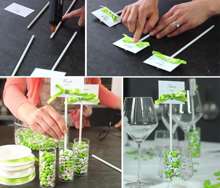 Tischkartenhalter Hochzeit basteln