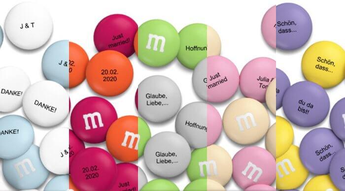 M&M's bedrucken