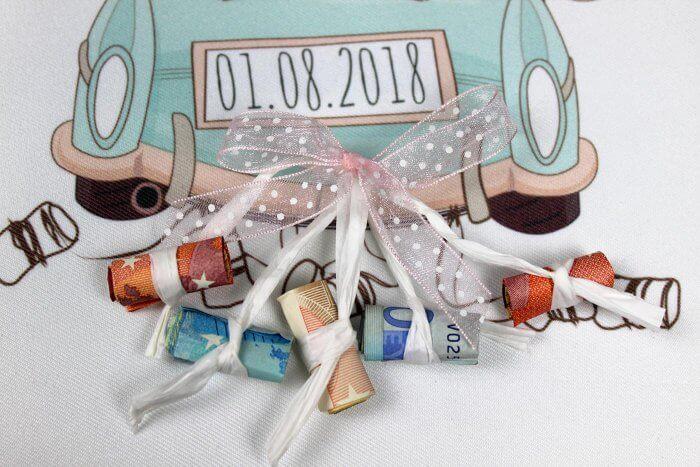 Geldgeschenk kreativ für die Hochzeit mit Dosen