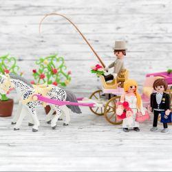 Playmobil Hochzeit Brautpaar und Kutsche