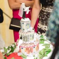 Geldgeschenk Hochzeit Torte
