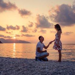 Heiratsantrag Strand