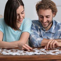 Personalisiertes Puzzle Hochzeit