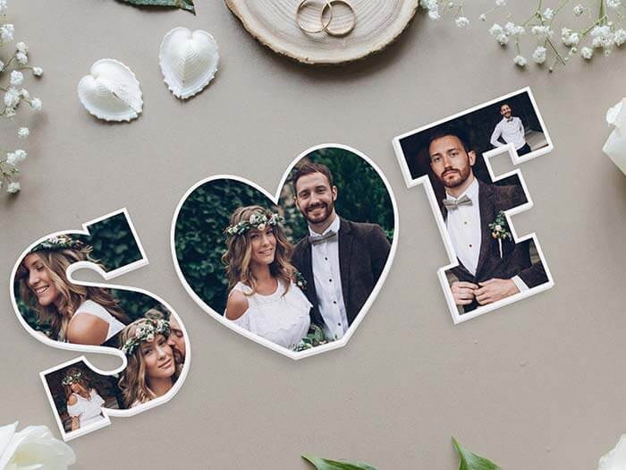 Bilderrahmen für Hochzeitsfotos
