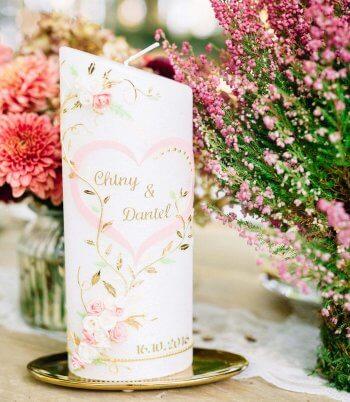 Hochzeitskerze personalisiert