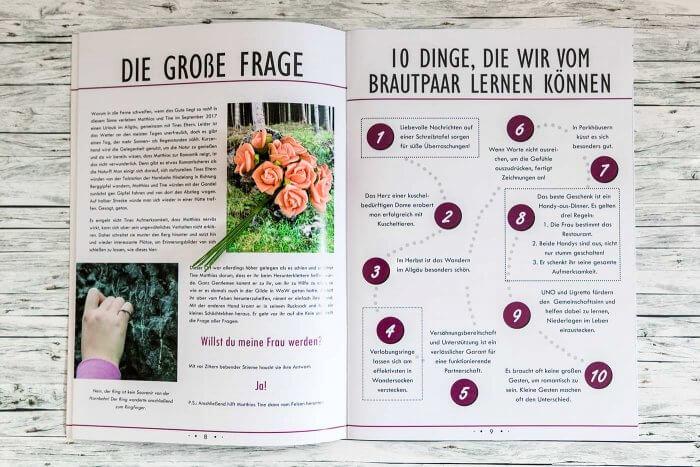 Hochzeitszeitung Ideen Texte