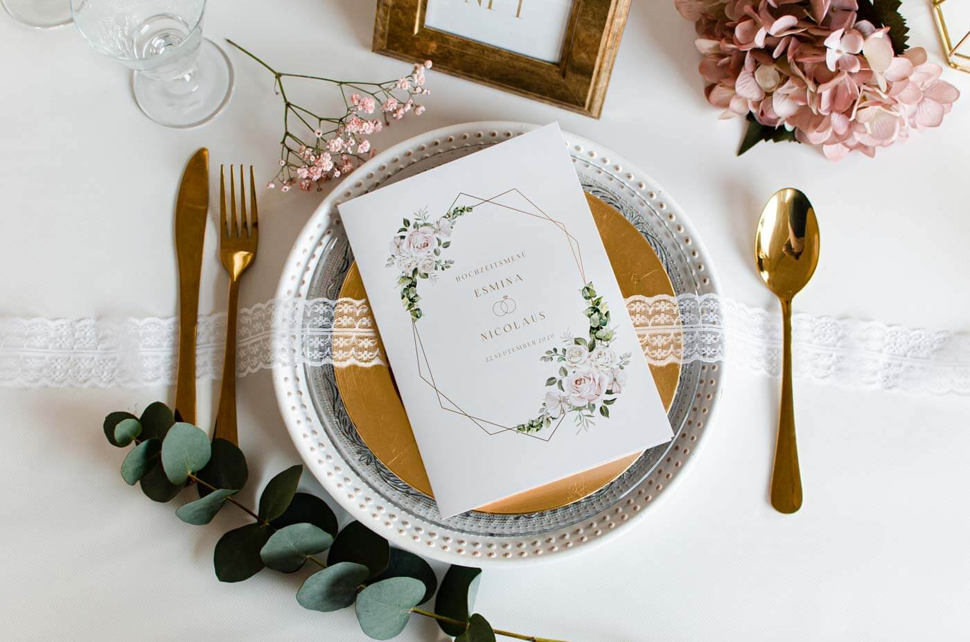 Tisch Menükarten