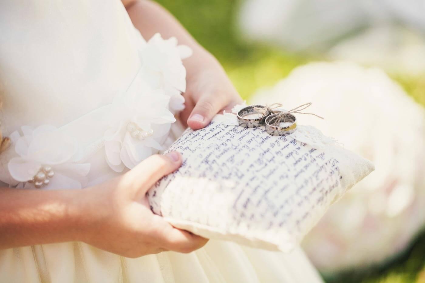 Hochzeit Ringkissen