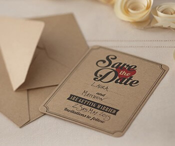 Einfache Save-the-Date-Karte