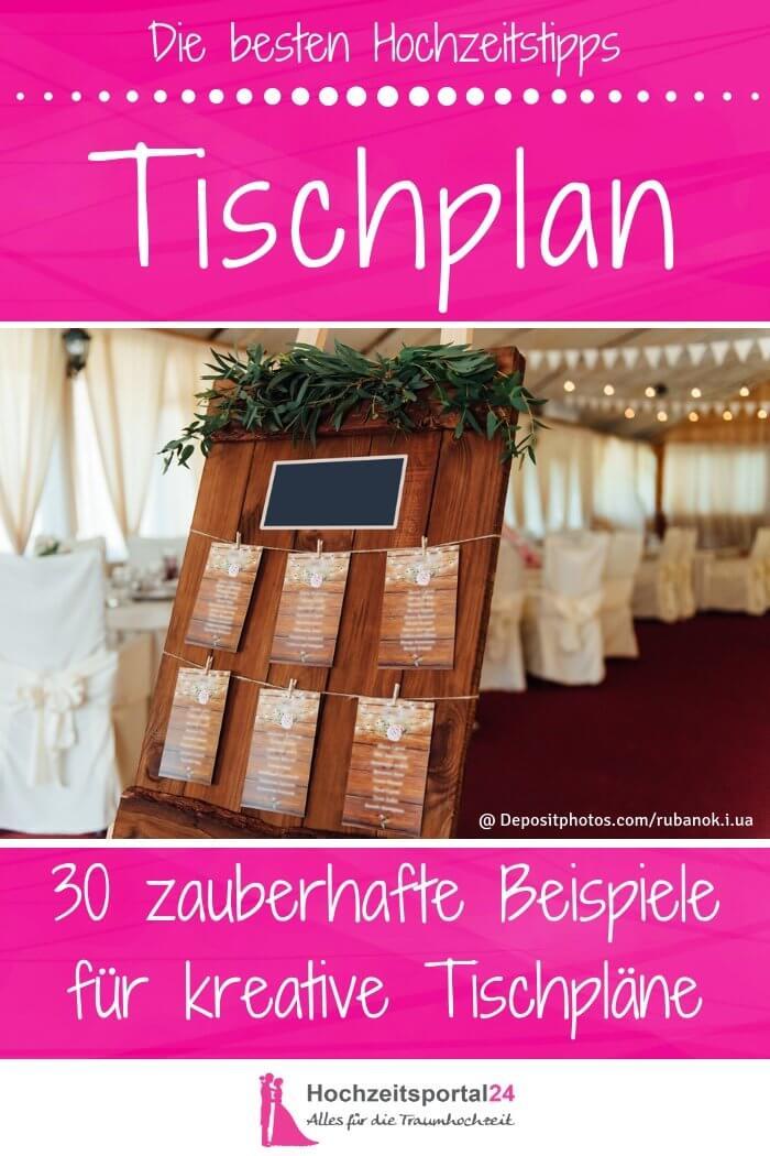 Sitzplan Hochzeit gestalten