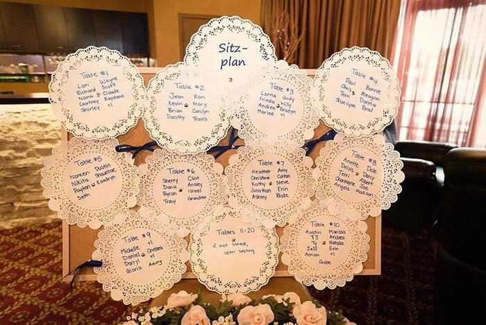 Tischplan Hochzeit basteln