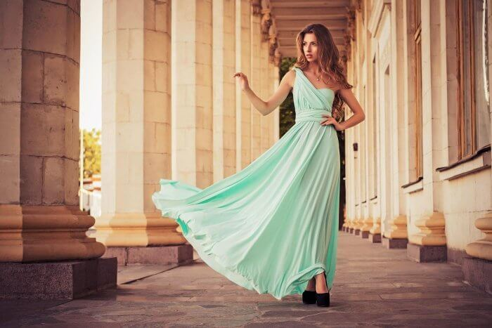Kleid Standesamt mint